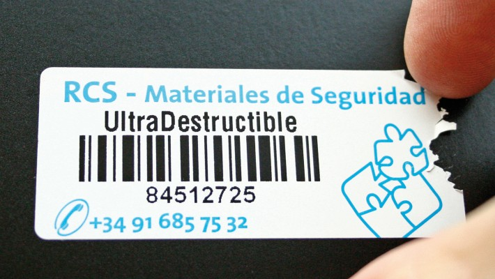 Etiquetas ultradestructibles